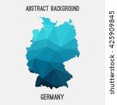 germany deutschland map in... | Shutterstock .eps vector #425909845