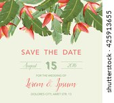 wedding invitation card.... | Shutterstock .eps vector #425913655