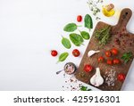 organic vegetarian ingredients  ... | Shutterstock . vector #425916301