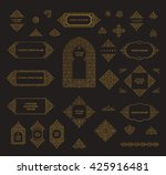 arabic vector set of frames and ... | Shutterstock .eps vector #425916481
