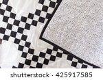 Black And White Patchwork Quil...