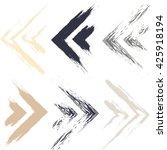 cute vector geometric seamless... | Shutterstock .eps vector #425918194