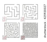 set of mazes 22 | Shutterstock .eps vector #425920327