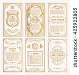 vintage gold vector set retro...