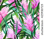 amazing vector tropical design. ... | Shutterstock .eps vector #425930725
