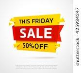 ecommerce bright vector banner. ... | Shutterstock .eps vector #425934247