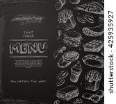 Fast Food Menu Drawn On The...
