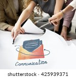 e mail communication connection ... | Shutterstock . vector #425939371