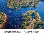 okavango delta  okavango... | Shutterstock . vector #425957404