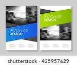 abstract business flyer design... | Shutterstock .eps vector #425957629