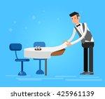vector detailed character... | Shutterstock .eps vector #425961139