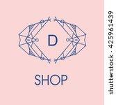 elegant monogram design. vector ... | Shutterstock .eps vector #425961439
