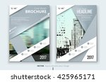 Gray Corporate business annual report brochure flyer design. Leaflet cover presentation. Catalog with Abstract geometric background. Modern publication poster magazine, layout, template. A4 size | Shutterstock vector #425965171