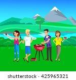 vector character people on... | Shutterstock .eps vector #425965321