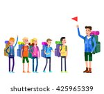 vector illustration of kids... | Shutterstock .eps vector #425965339