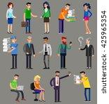 vector detailed characters... | Shutterstock .eps vector #425965354