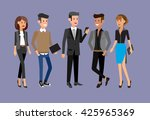 vector detailed characters... | Shutterstock .eps vector #425965369