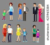 detailed character people ... | Shutterstock .eps vector #425965384