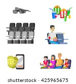 movie poster or banner template ... | Shutterstock .eps vector #425965675