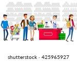 concept illustration for shop.... | Shutterstock .eps vector #425965927