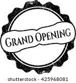 grand opening grunge seal | Shutterstock .eps vector #425968081