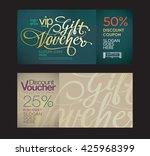 premium gift voucher template... | Shutterstock .eps vector #425968399