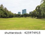 public park in city. | Shutterstock . vector #425974915