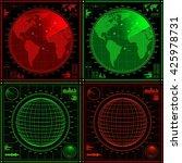 blue radar screen with planes...