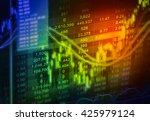 stock market or forex trading... | Shutterstock . vector #425979124