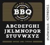 vintage font in egyptian style  ... | Shutterstock .eps vector #425980411
