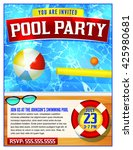 a template for a pool party...   Shutterstock .eps vector #425980681
