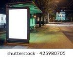 mock up of blank bus stop... | Shutterstock . vector #425980705