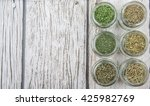 dried parsley  estragon ... | Shutterstock . vector #425982769