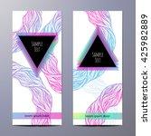 flyer design. abstract... | Shutterstock .eps vector #425982889