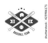 baseball badge | Shutterstock .eps vector #425986171