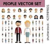 diversity community people flat ... | Shutterstock .eps vector #425989831