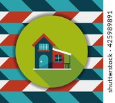 building flat icon with long...   Shutterstock .eps vector #425989891