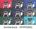 working workplace workspace... | Shutterstock . vector #425992861