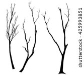 vector black silhouette of a... | Shutterstock .eps vector #425993851