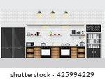 Interior Kitchen With Kitchen...
