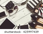 flat lay photography with... | Shutterstock . vector #425997439