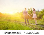 young couple in love together... | Shutterstock . vector #426000631