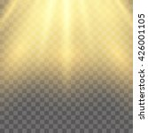 sun with lens flare  on plaid... | Shutterstock .eps vector #426001105