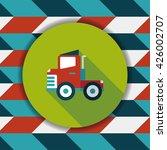 transportation truck flat icon... | Shutterstock .eps vector #426002707