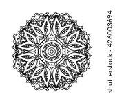 mandala. ethnic decorative... | Shutterstock .eps vector #426003694