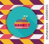 transportation ferry flat icon... | Shutterstock .eps vector #426004141
