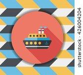 transportation ferry flat icon... | Shutterstock .eps vector #426004204
