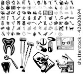 medical set of black sketch.... | Shutterstock .eps vector #42600694