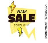 best sale flash doodle speech... | Shutterstock .eps vector #426009064