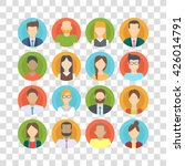 set of business people ... | Shutterstock .eps vector #426014791